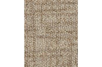 Hometrend Teppichboden Meterware Schlinge gemustert Beige/ Natur
