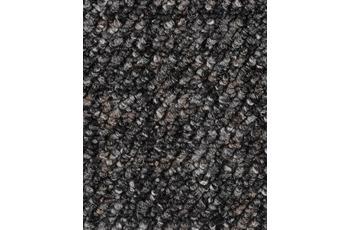 Hometrend Teppichboden Meterware Schlinge gemustert Grau-Schwarz