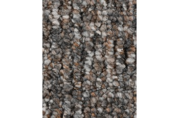 Hometrend Teppichboden Meterware Schlinge gemustert Graubraun