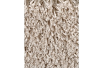 Hometrend Teppichboden Meterware Shaggy Hochflor Beige/ Creme