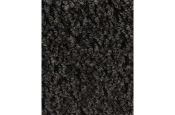 Hometrend Teppichboden Meterware Shaggy Hochflor Schwarz