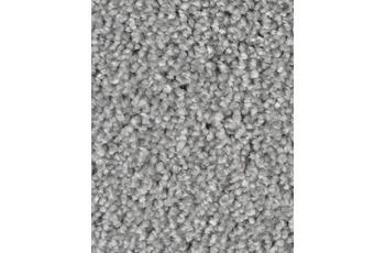 Hometrend Teppichboden Meterware Velours meliert Hellgrau