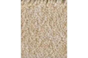 Hometrend Teppichboden Meterware Velours meliert Sand/ Creme