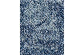 Hometrend Teppichboden Schlinge bedruckt blau