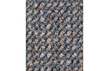 Hometrend Teppichboden Schlinge strukturiert blau/ beige