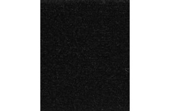 Hometrend Teppichboden Uni-Velours schwarz