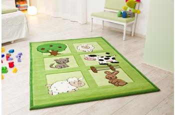 Kelii Kinder-Teppich Bauernhof grün