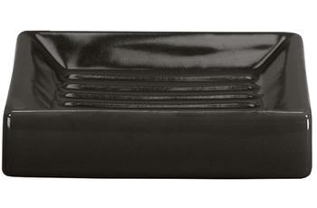 Kleine Wolke Accessoires Seifenschale Flash, Schwarz 2,5 x 10,5 cm