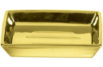 Kleine Wolke Accessoires Seifenschale Glamour, Gold 2,5 x 11 cm