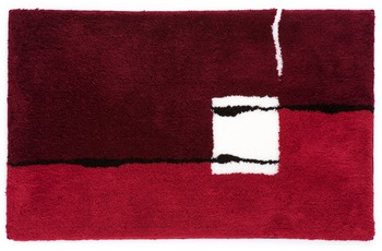 Kleine Wolke Badteppich Malaga Weinrot