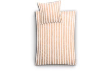 Kleine Wolke Bettwäsche Stripe, Aprikose