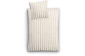 Kleine Wolke Bettwäsche Stripe, Sandbeige