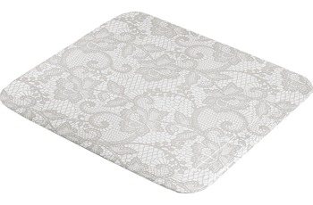 Kleine Wolke Duscheinlage Spitze, Silbergrau 55 x 55 cm Duscheinlage
