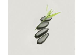 Kleine Wolke Duscheinlage Zen, Schwarz Weiß 55 x 55 cm