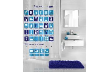 Kleine Wolke Duschvorhang Apps, Blau 180 x 200 cm (Breite x Höhe)