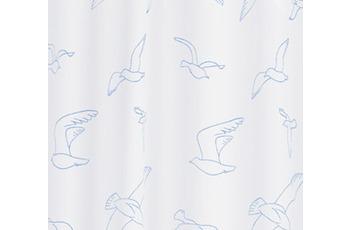 Kleine Wolke Duschvorhang Birdie, Weiß 180 x 200 cm (Breite x Höhe)
