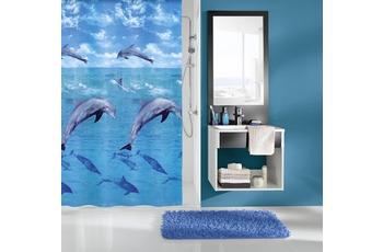 Kleine Wolke Duschvorhang Dolphin, Multicolor 180 x 200 cm (Breite x Höhe)