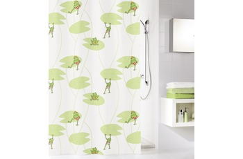 Kleine Wolke Duschvorhang Frog, Multicolor 180 x 200 cm (Breite x Höhe)