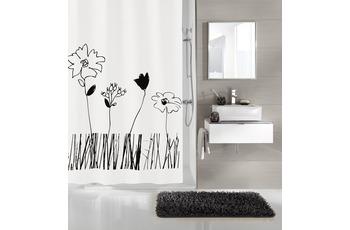 Kleine Wolke Duschvorhang Grace, Schwarz-Weiß 180 x 200 cm (Breite x Höhe)