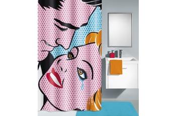 Kleine Wolke Duschvorhang Kiss, Multicolor 180 x 200 cm