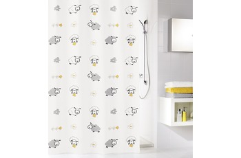 Kleine Wolke Duschvorhang Sheep, Multicolor 180 x 200 cm (Breite x Höhe)