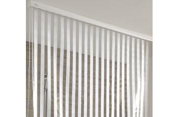 Kleine Wolke Eckduschrollo, Weiß 132+56x240 cm