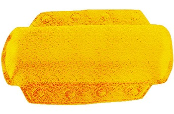 Kleine Wolke Nackenpolster Arosa, Gelb 32x22 cm