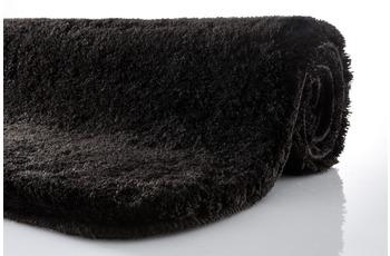 Kleine Wolke Badteppich, Relax, Schwarz, rutschhemmender Rücken, Öko-Tex zertifiziert
