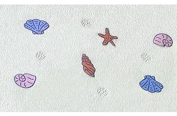 Kleine Wolke Wanneneinlage Beach, Multicolor 36x 72 cm