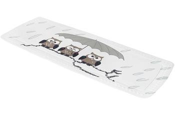 Kleine Wolke Wanneneinlage Eule, Taupe 36x 92 cm