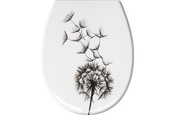 Kleine Wolke WC-Sitz Pusteblume, Weiss 37x 45 cm