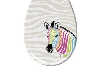 Kleine Wolke WC-Sitz Zebra, Multicolor 37x 45 cm