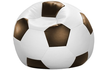 linke licardo Fußball-Sitzsack Kunstleder weiß/ braun