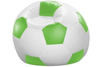 linke licardo Fußball-Sitzsack Kunstleder weiß/ grün
