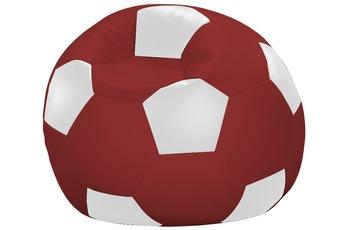 linke licardo Fußball-Sitzsack Kunstleder weiß/ rot