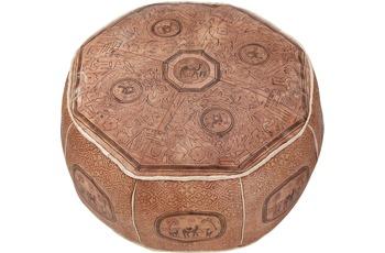 linke licardo Orientkissen, Echt Leder Dessin 412 Ø 60 cm