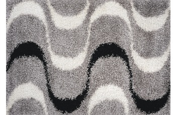 Luxor Living Teppich Faenza Welle schwarz-weiß