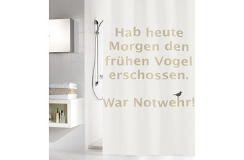 Meusch Duschvorhang Early Bird,Sandbeige 180 x 200 cm