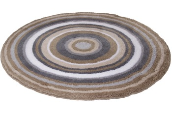 Meusch Badteppich Mandala Taupe 100 cm rund
