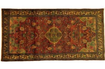 Oriental Collection Teppich, Sarough, Perser-Teppich, handgeknüpft, reine Schurwolle, florale Ornamentik, 115 x 230 cm
