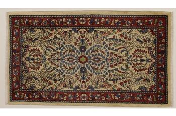 Oriental Collection Teppich, Sarough, Perser-Teppich, handgeknüpft, reine Schurwolle, florale Ornamentik, 70 x 120 cm