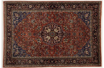 Oriental Collection Teppich, Sarough, Perser-Teppich, handgeknüpft, reine Schurwolle, florale Ornamentik, 138 x 205 cm