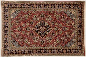 Oriental Collection Teppich, Sarough, Perser-Teppich, handgekn�pft, reine Schurwolle, florale Ornamentik, 137 x 208 cm