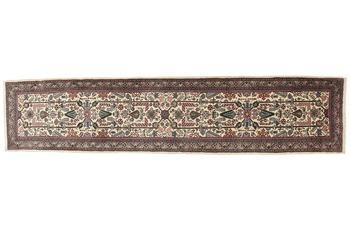 Oriental Collection Sarough Teppich, handgeknüpft, Perser Teppich, echte Schurwolle, 93 x 410 cm