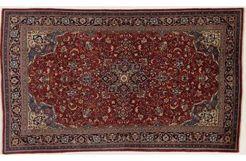Oriental Collection Teppich, Sarough, Perser-Teppich, handgeknüpft, reine Schurwolle, florale Ornamentik, 135 x 227 cm