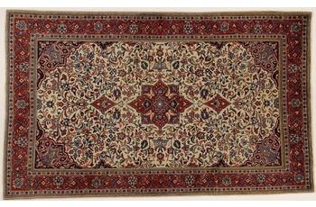 Oriental Collection Teppich, Sarough, Perser-Teppich, handgeknüpft, reine Schurwolle, florale Ornamentik, 130 x 215 cm