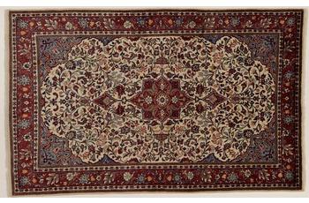 Oriental Collection Teppich, Sarough, Perser-Teppich, handgeknüpft, reine Schurwolle, florale Ornamentik, 135 x 210 cm
