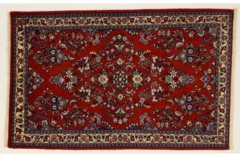 Oriental Collection Teppich, Sarough, Perser-Teppich, handgeknüpft, reine Schurwolle, florale Ornamentik, 75 x 120 cm