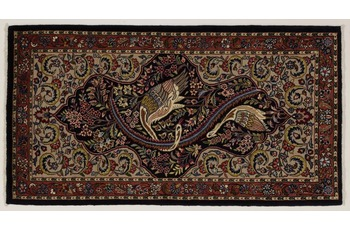 Oriental Collection Teppich, Sarough, Perser-Teppich, handgekn�pft, reine Schurwolle, florale Ornamentik, 70 x 128 cm