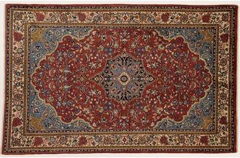 Oriental Collection Teppich, Sarough, Perser-Teppich, handgeknüpft, reine Schurwolle, florale Ornamentik, 135 x 206 cm